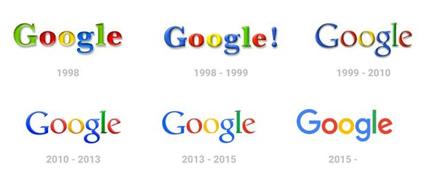 google evoluzione logo