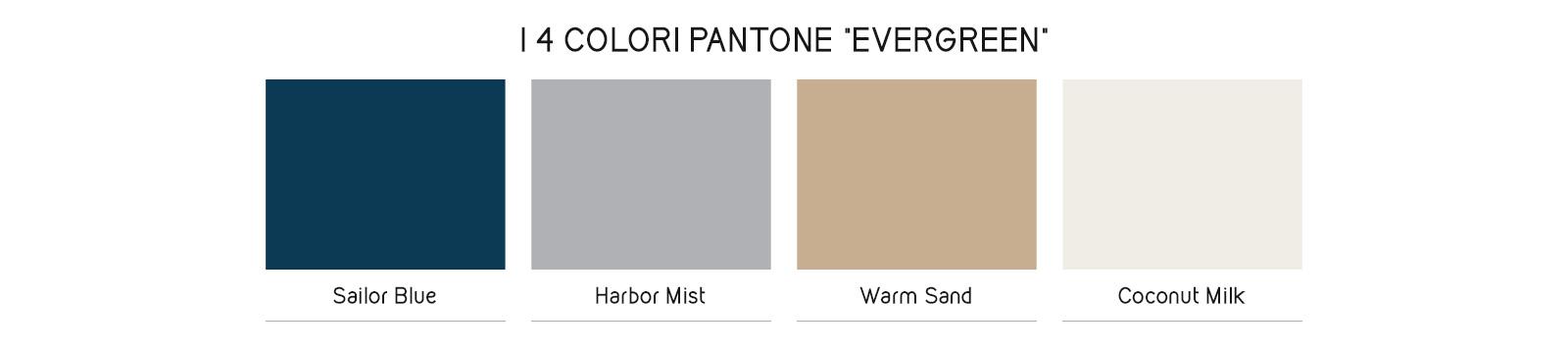 Colori Evergreen estate 2018 Pantone